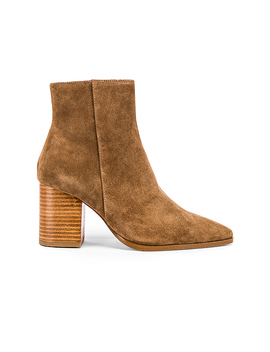 Merit Bootie In Toffee Brown by Raye