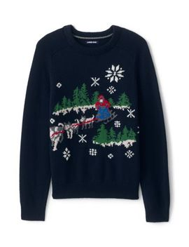 Men's Lighthouse Heritage Dogsled Crew Neck Sweater by Lands' End
