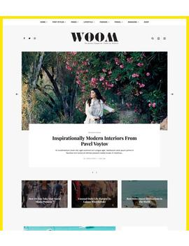Womm Fashion   Lifestyle Word Press Theme   Wordpress Blog Theme   Wordpress Responsive Theme   Wordpress Ecommerce Theme by Etsy