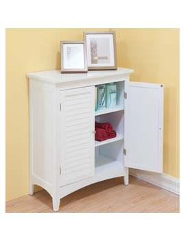 Bayfield White Double Door Floor Cabinet By Elegant Home Fashions by Essential Home Furnishings