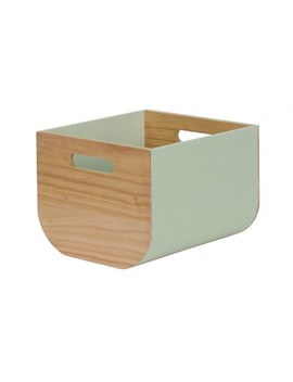 "Small Paulownia Wood Bin With Fabric Sides 8""X10""   Project 62™ by Project 62"