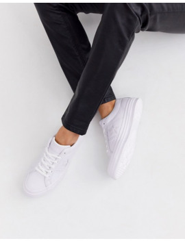 Converse   One Star   Baskets En Cuir   Blanc by Converse