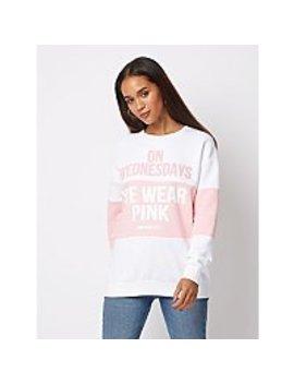 Tickled Pink Mean Girls Slogan Sweatshirt by Asda