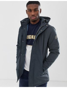 Only &Amp; Sons Parka In Navy by Only & Sons