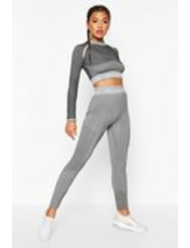 Fit Seamless Knit High Waist Woman Active Legging Fit Seamless Knit High Waist Woman Active Legging by Boohoo