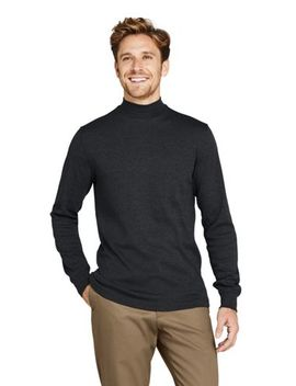 Men's Super Soft Supima Mock Turtleneck by Lands' End