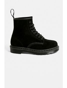 Dr. Martens Pascal Black Suede 8 Eye Boots by Dr. Martens