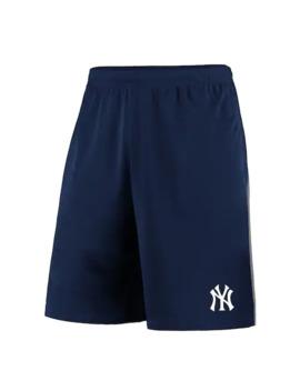 Men's Fanatics Branded Navy/Gray New York Yankees Crossbar Shorts by Fanatics