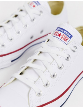 Converse Chuck Taylor All Star Ox White Leather Trainers by Converse
