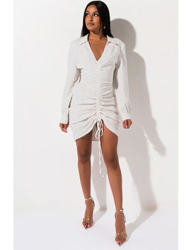Calm Before The Storm Ruched Mini Dress by Akira