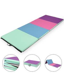Gymax 4'x8'x2'' Portable Gymnastics Mat Folding Exercise Aerobics Exercise Gym Fitness by Generic