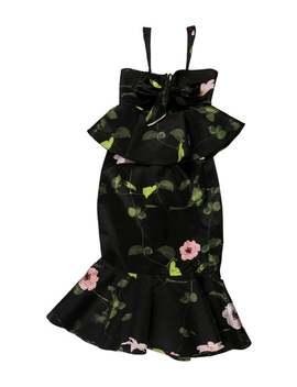 Silk Peplum Midi Dress by Johanna Ortiz