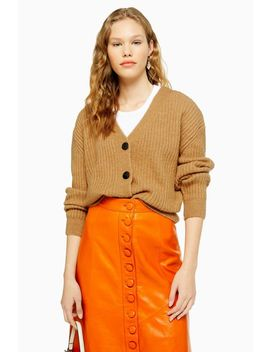 Knitted Super Soft Ribbed Cardigan by Topshop