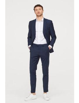 Pantalón De Traje Slim Fit by H&M