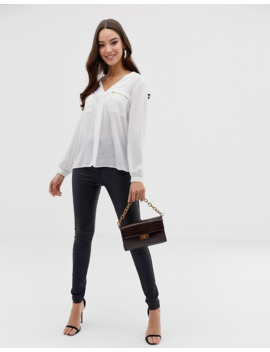 Lipsy Zip Pocket Shirt by Lipsy