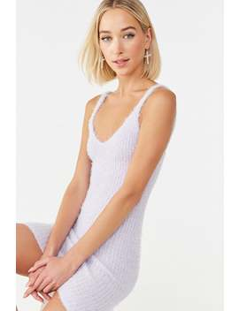 Fuzzy Knit Cami Dress by Forever 21
