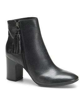 Born® Michie Leather Block Heel Bootie by Born®