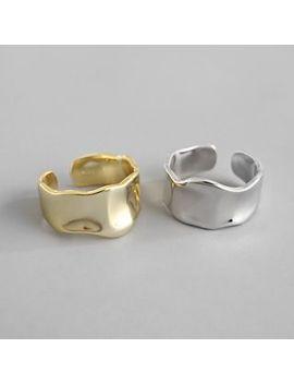 Phoenoa   925 Sterling Silver Irregular Open Ring by Phoenoa
