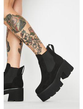 Suede Rougher The Better Platform Boots by Lamoda