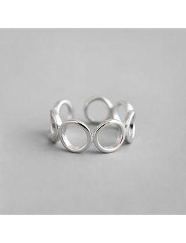 Phoenoa   925 Sterling Silver Hoop Open Ring by Phoenoa