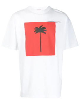 T Shirt Met Palmboomprint by Palm Angels