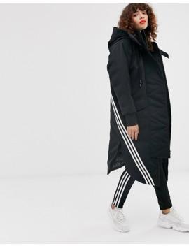 Adidas Originals Hooded Parka In Black by Adidas