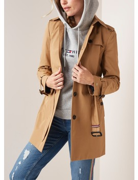 Single Breasted Trenchcoat Met Ceintuur by Tommy Hilfiger