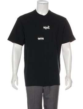 2018 Split Box Logo Tee W/ Tags by Comme Des Garçons Shirt X Supreme