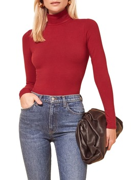 Navia Turtleneck Bodysuit by Reformation