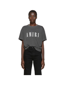 Black Logo Core T Shirt by Amiri