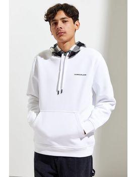 Calvin Klein Plaid Mix Hoodie Sweatshirt by Calvin Klein