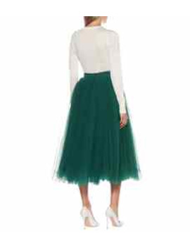 Tulle Midi Skirt by Dolce & Gabbana