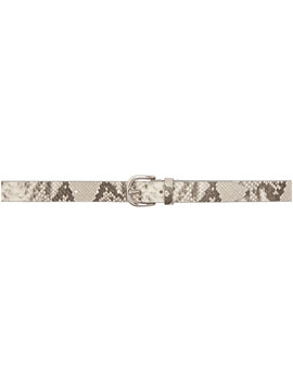 White & Grey Snake Zap Belt by Isabel Marant
