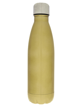 Brushed Gold Double Walled Metal Water Bottle by Accessorize