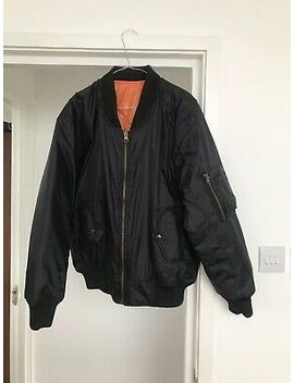 Mens Black Xl / Baggy L Classic Black/Orange Bomber Jacket by Unbranded