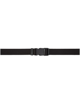 Black Buckle Belt by Prada