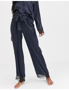 Asos Design Mix &Amp; Match Satin &Amp; Lace Pyjama Shirt And Trouser by Asos