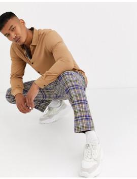 Asos Design Regular Fit Viscose Shirt In Tan Brown by Asos Design
