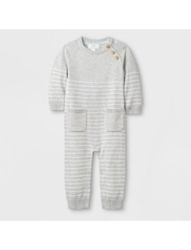 Baby Long Sleeve Romper   Cloud Island™ Gray by Cloud Island