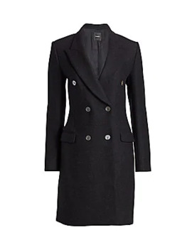 Tailored Wool Double Breasted Coat by Theory