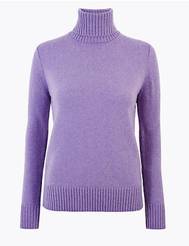 Wool Rich Roll Neck Jumper by Standard Delivery :