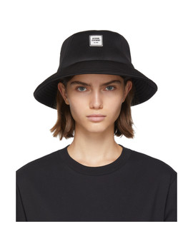 Ssense Exclusive Black Neoprene Bucket Hat by Opening Ceremony