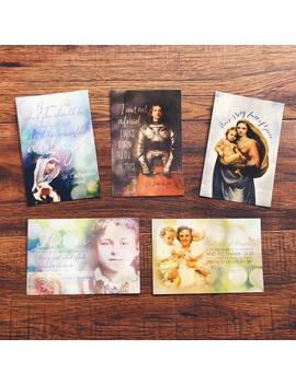 Set Of 5 Catholic Gal Saint Postcard Set   Saint Card Set   Catholic Postcard Prints by Etsy