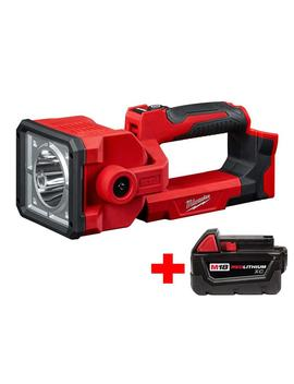 M18 18 Volt Lithium Ion Cordless 1250 Lumen Search Light With Free M18 3.0 Ah Battery by Milwaukee