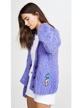 Alpaca Crochet Cropped Pearl Cardigan by Michaela Buerger