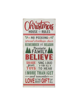 "31.5"" Christmas House Rules Wall Accent By Ashland® by Ashland"