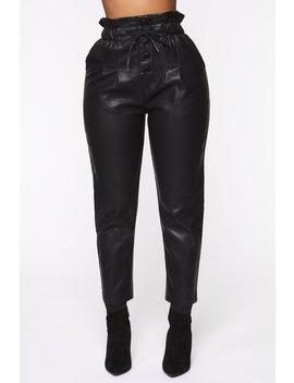 Metro Chic Pu Jogger   Black by Fashion Nova