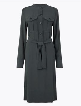 Utility Belted Shirt Dress by Marks & Spencer