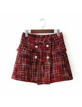 Katyusha   Tweed Mini A Line Skirt by Katyusha