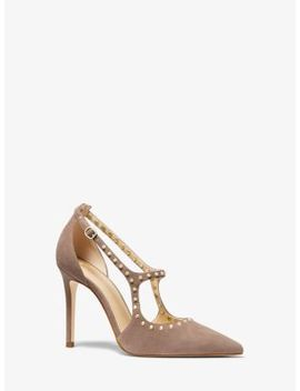 Ava Studded Suede Pump by Michael Michael Kors